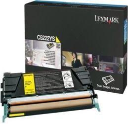 Toner oryginalny Lexmark C5222YS