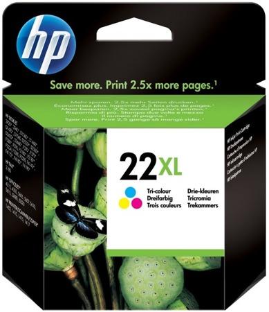 Tusz oryginalny HP 22XL CMY (C9352CE)
